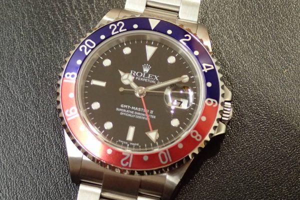 人気のペプシカラー GMT-MASTER II Ref.16710 赤青ベゼル