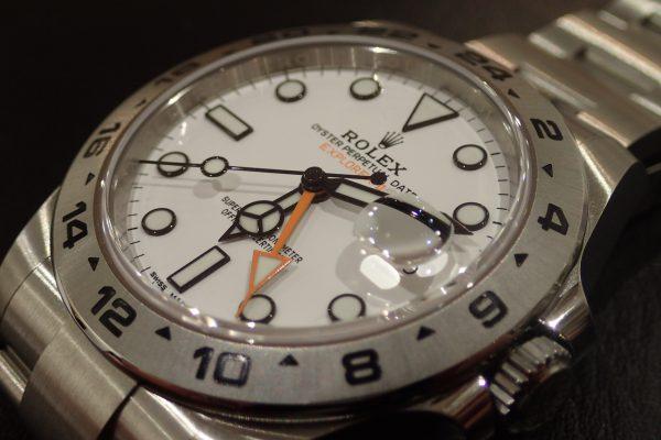 高年式 ホワイトダイヤル エクスプローラーII Ref.216570
