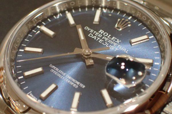 高年式 ブルーダイヤル デイトジャスト Ref.126200