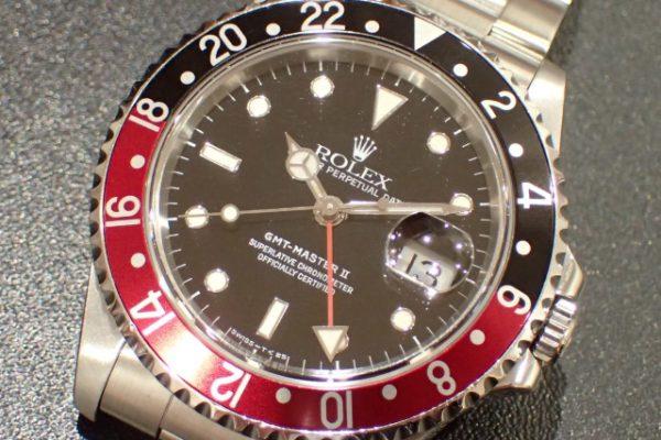 トリチウムダイヤル・シングルロック GMT-MASTER II REF.16710 赤黒ベゼル