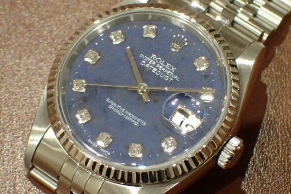 独特なブルー DATEJUST REF.16234G ソーダライト