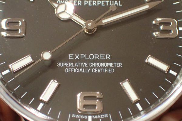 ブラックアウト旧ダイヤル EXPLORER I Ref.214270