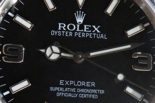 ブラックアウト仕様のエクスプローラーI Ref.214270